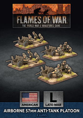 Flames of War: Late War: United States: Parachute 57mm Anti-Tank Platoon (UBX67)