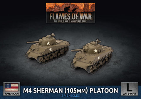 Flames of War: Late War: United States: M4 Sherman (105mm) Assault Gun Platoon (UBX71)
