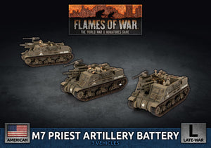 Flames of War: Late War: United States: M7 Priest Artillery Battery (UBX73)