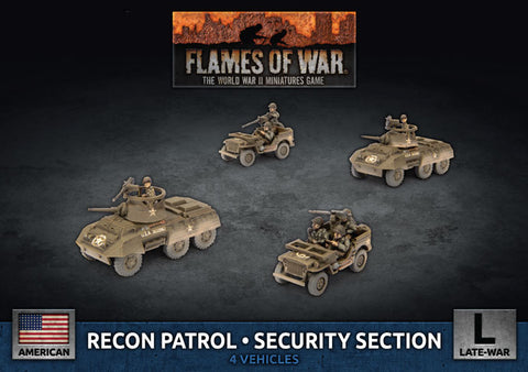 Flames of War: Late War: United States: M8 Cavalry Recon Platoon (UBX79)