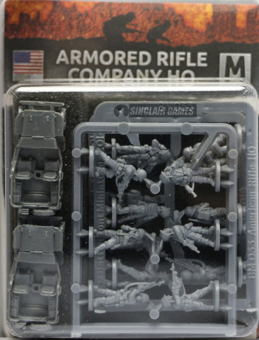 Flames of War: Mid War: United States: Armored Rifle Company HQ (US782)