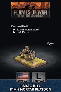 Flames of War: Late War: United States: Parachute 81mm Mortar Platoon (US794)
