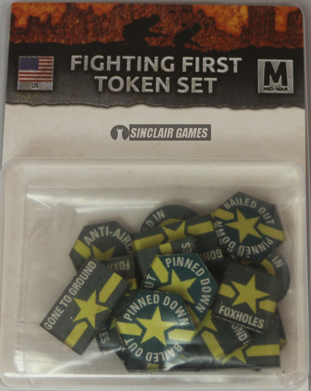 Flames of War: United States: Mid War: Fighting First Token Set (US901)