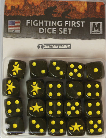 Flames of War: United States: Mid War: Fighting First Dice Set (US900)