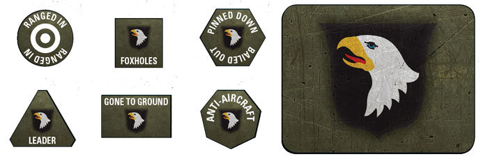 Flames of War: Late War: United States: 101st Airborne Division Tokens and Objectives (US909)