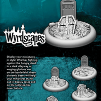Wyrdscapes: 30mm Graveyard Bases