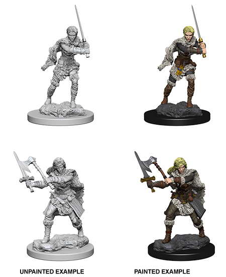 Nolzur's Marvelous Miniatures: Human Female Barbarian (72644)