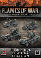 Flames of War: Mid War: German SdKfz 10/4 Light AA Platoon (GBX111)