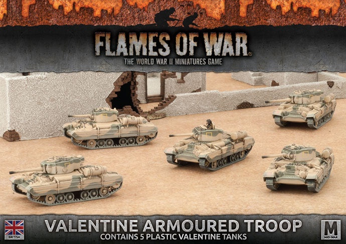 Flames of War: British: Mid War: Valetine Troop (BBX43)