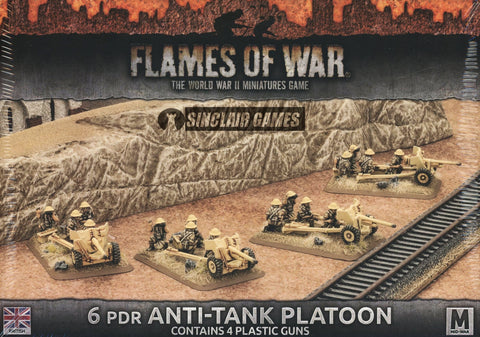 Flames of War: British: Mid War: 6pdr Platoon (BBX38)
