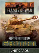 Pre Order Flames of War: German: Fortress Europe Unit Cards (FW261G)