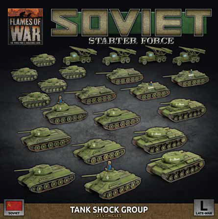 Flames of War: Late War: Soviet: Tank Shock Group Starter Force (SUAB11)