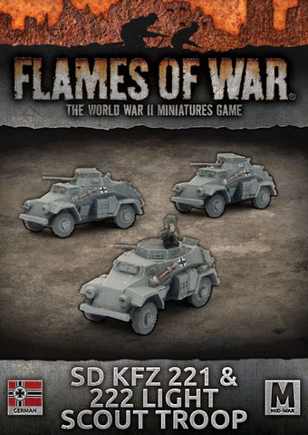 Flames of War: Mid War: German: Sd Kfz 221 & 222 Light Scout Troop (GBX112)
