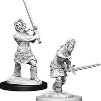 Pathfinder Deep Cuts Unpainted Miniatures: Male Human Barbarian (73413)