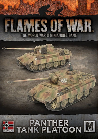 Flames of War: Mid War: German: Panther Tank Platoon (GBX126)