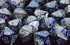 Chessex: Poly Set (7 Dice): Gemini: Blue-Steel / White (26423)