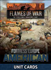 Pre Order Flames of War: Late War: United States: Fortress Europe Unit Cards (FW261U)
