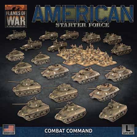 Pre Order Flames of War: Late War: United States: Combat Command Starter Force (USAB10)
