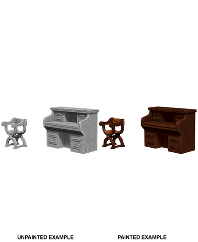 WizKids Deep Cuts Miniatures: Desk & Chair (73362)