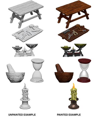 WizKids Deep Cuts Miniatures: Workbench & Tools (73369)