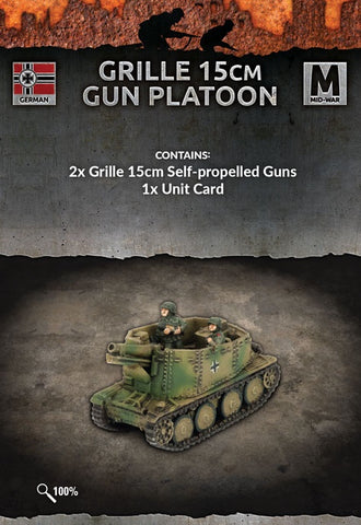 Flames of War: Mid War: German: Grille 15cm Gun Platoon (GE142)
