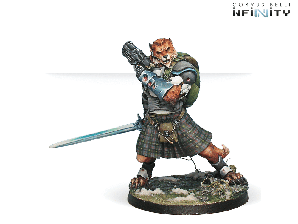 Infinity: Mercenaries Tearlach McMurrough (2 Chain Rifle, Templar CCW) NEW