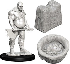 Wizkids Deep Cuts Unpainted Miniatures: Executioner and Chopping Block (73420)