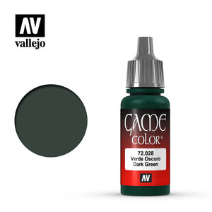 Vallejo Game Color: Dark Green (72028)