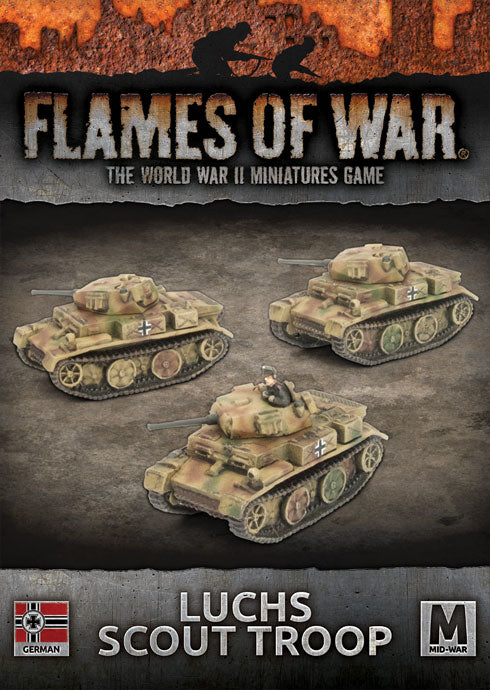 Flames of War: Mid War: German: Luchs Scout Troop (GBX131)