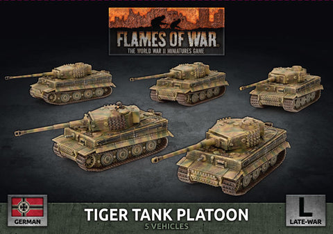 Flames of War: Late War: German: Tiger Heavy Tank Platoon (GBX140)