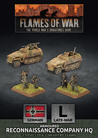 Flames of War: Late War: German: Reconnaissance HQ Platoon (GBX150)