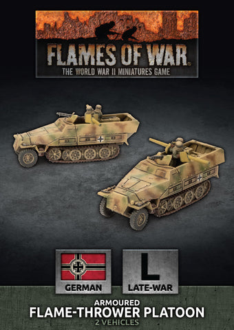 Flames of War: Late War: German: Sd Kfz 251 Flamethrower Platoon (GBX156)