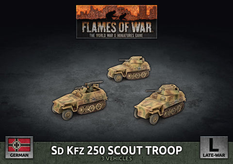 Flames of War: Late War: German: Sd Kfz 250 8cm/7.5cm/2cm Scout Platoon (GBX176)