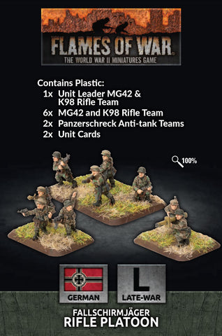 Flames of War: Late War: German: Fallschirmjager Platoon (GE768)