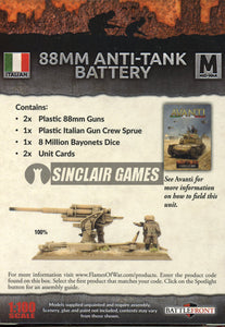 Flames of War: Mid War: Italian: 88mm Anti-Tank Battery (IBX13)