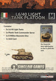 Flames of War: Mid War: Italian: L6/40 Light Tanks (IBX17)