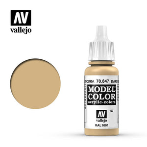 Vallejo Model Color (17ml): Dark Sand (70847)
