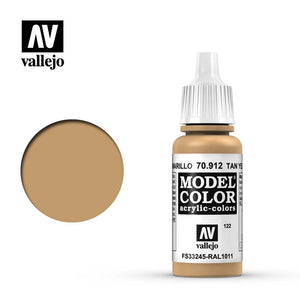 Vallejo Model Color (17ml): Tan Yellow (70912)