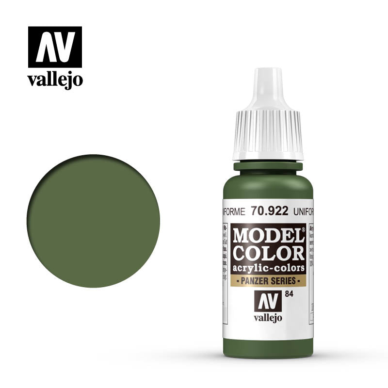 Vallejo Model Color (17ml): Uniform Green (70922)