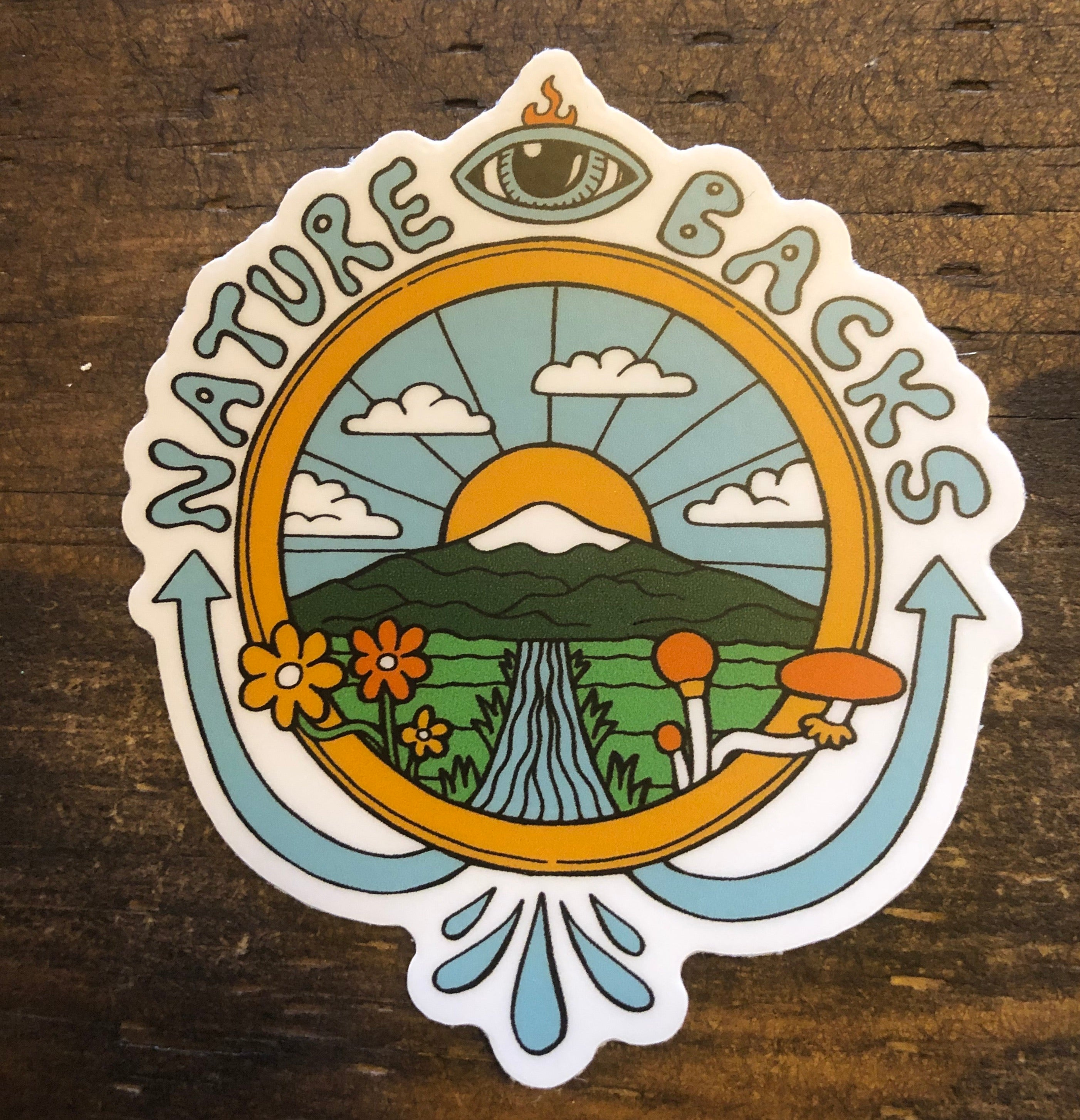 Nature Backs Gaia Sticker
