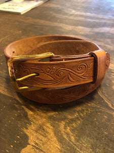 Tooled Vintage Girl Scout Belt