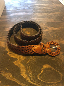 Leather Woven Belt-Small