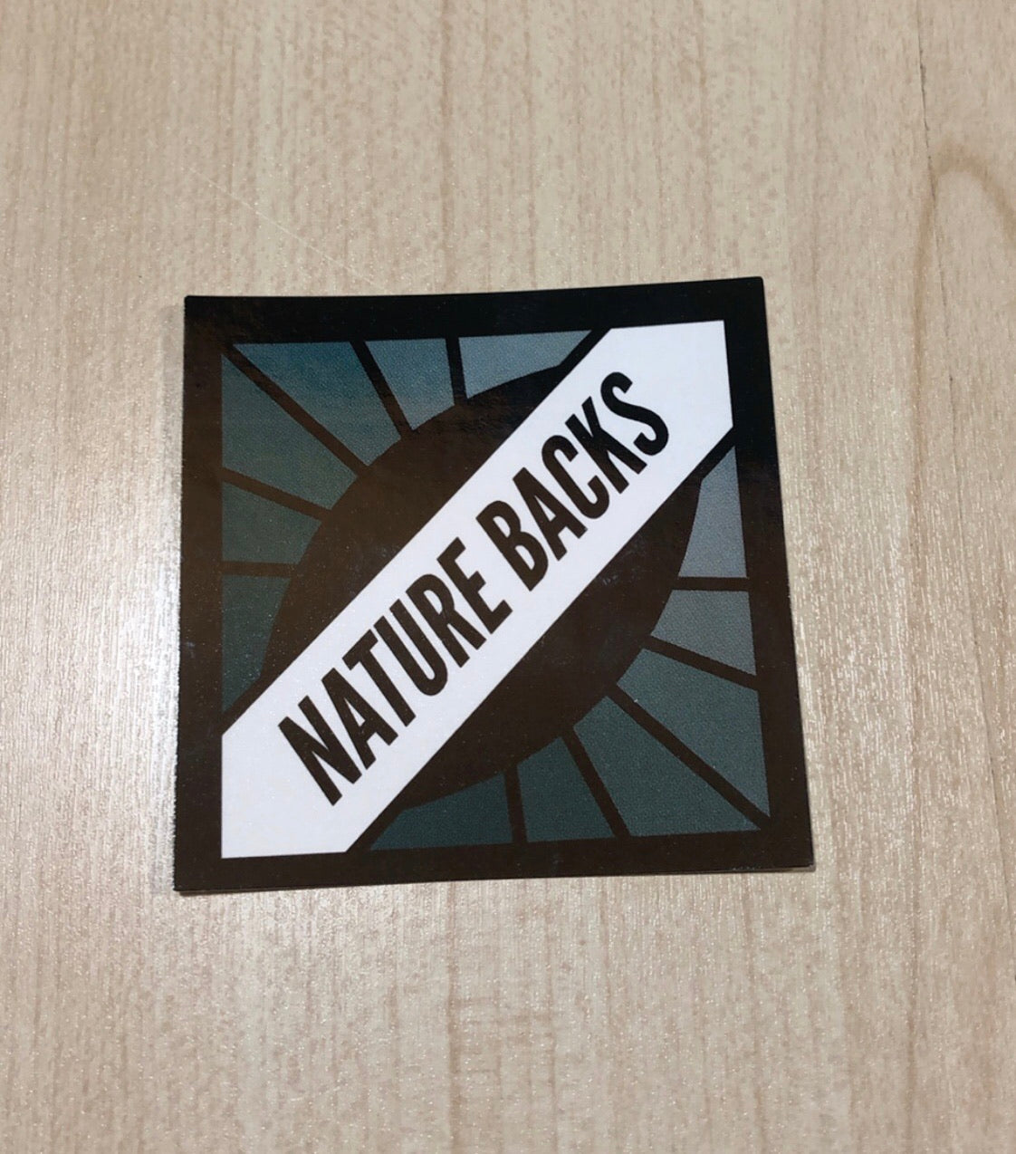 Nature Backs Teal Prism Sticker