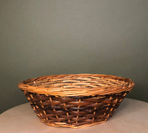 Small Two Toned Wicker Basket