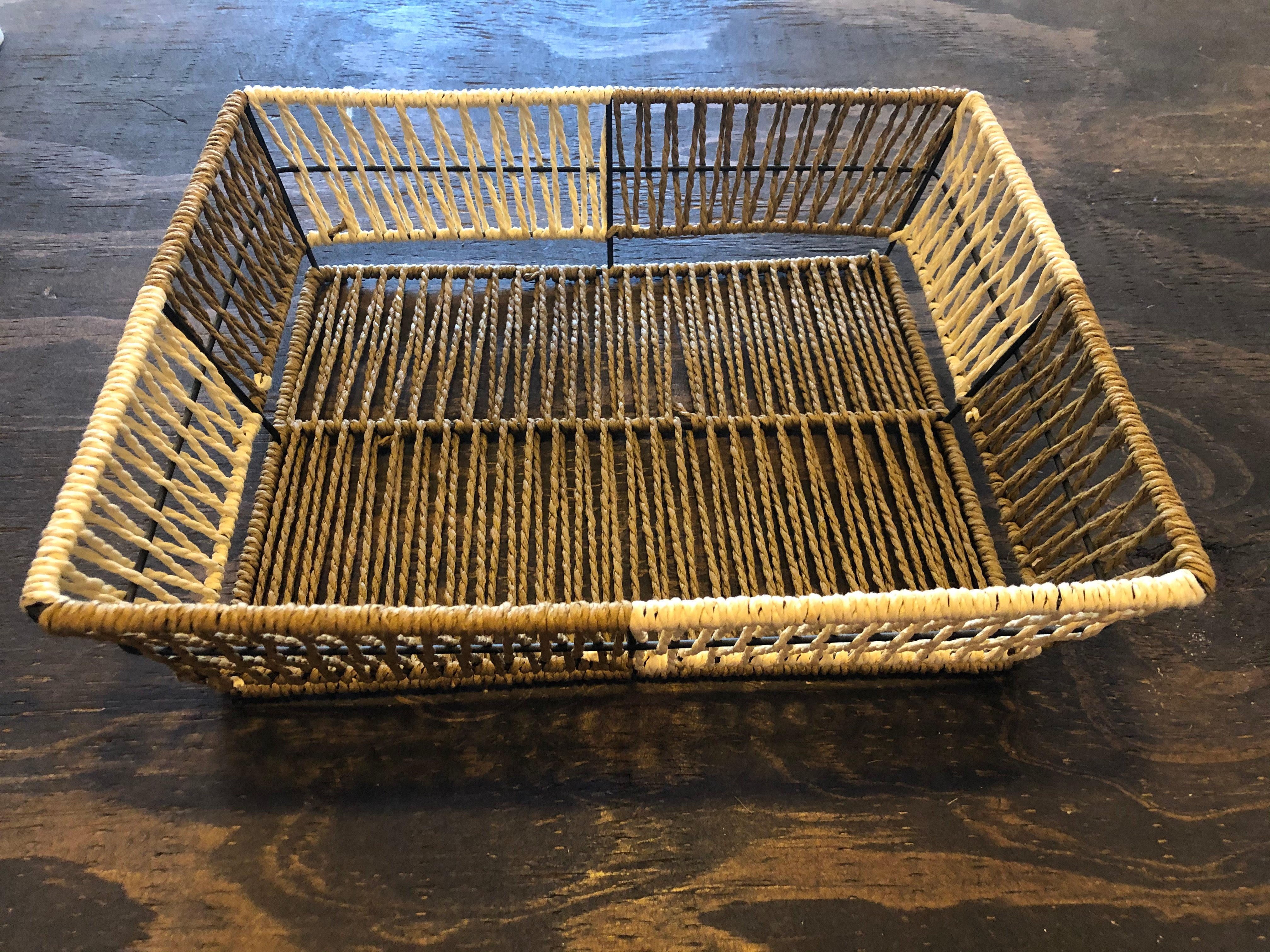 Two-Toned Woven Basket