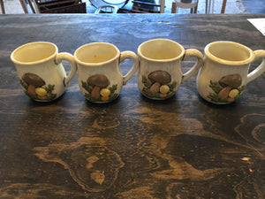 Mushroom Mugs (Set of 4)