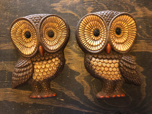 Owl Wall Hangers-Set of 2