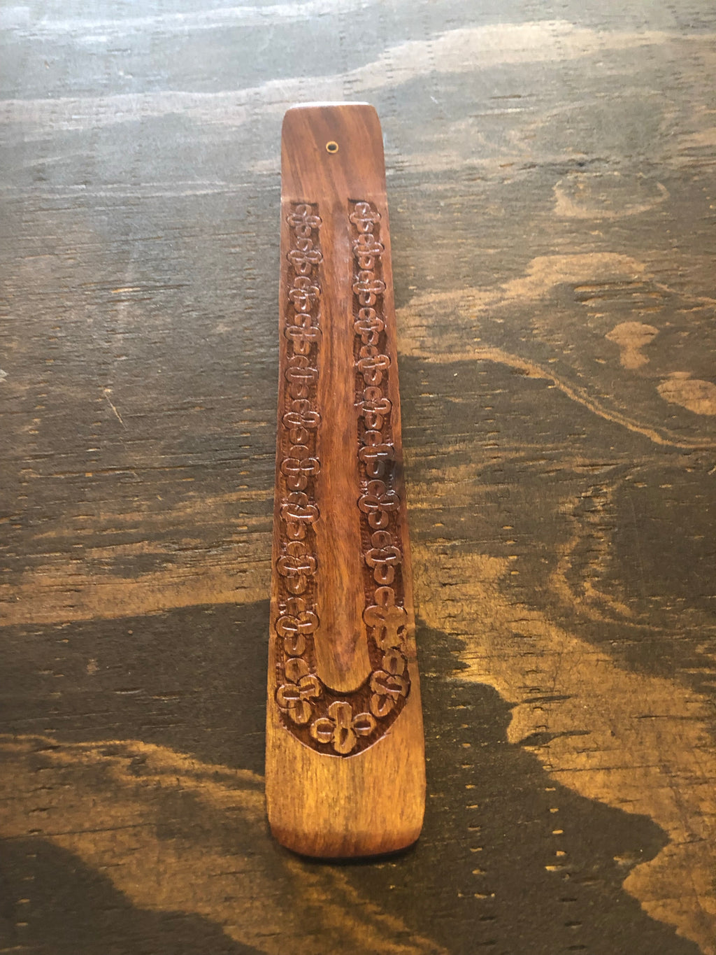 Carved Wood Incense Ash Catcher