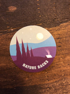 Nature Backs Camping Sticker