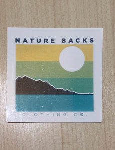 Nature Backs Clothing Co. Sticker